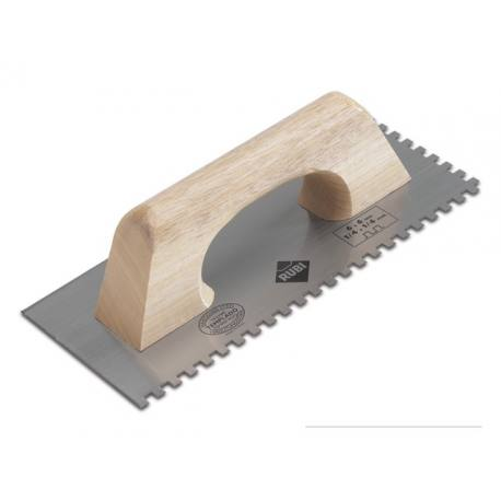 Llana dentada acero inoxidable Rubi 280x120 mm peine 10x10 mm