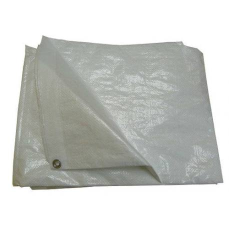 Toldo multiusos Abratools de polietileno blanco 90 g/m2