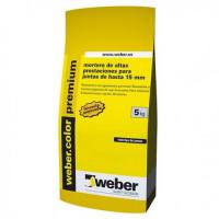 Mortero de rejunte Weber color Premium 5Kg Blanco