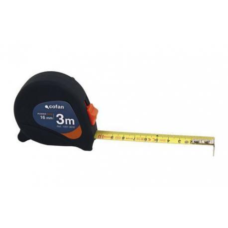Flexómetro antideslizante Cofan totalmente recubierto de goma