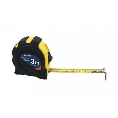 Flexómetro magnético con recubrimiento de goma Cofan con gancho