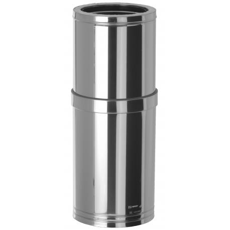 Módulo chimenea extensible tubería aislada inoxidable Dinak EI30J 370-550 mm Aisi 304-304