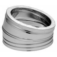 Codo estufa acero inoxidable aislado 15 grados Dinak EI30J Aisi 304-304