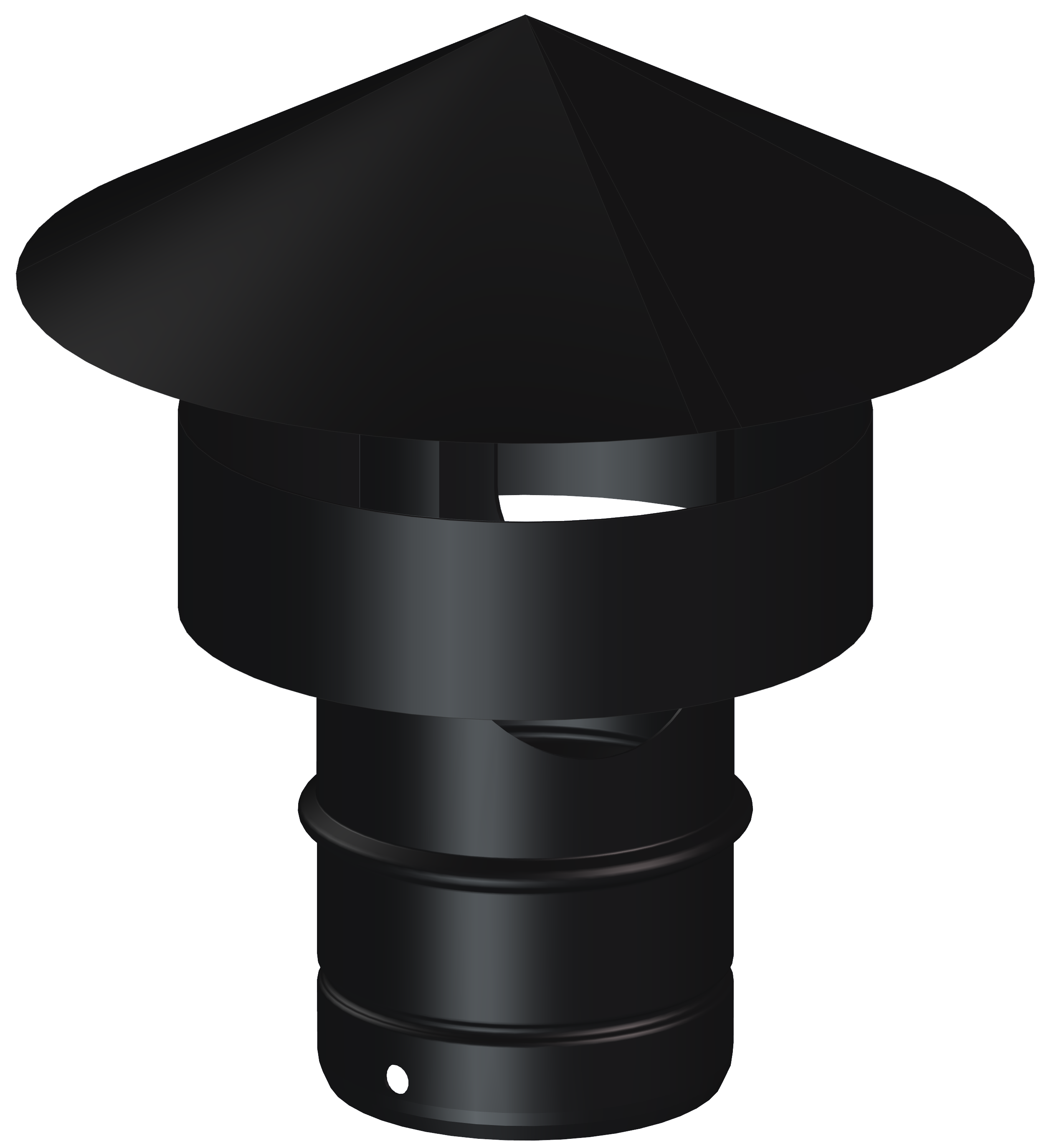 para inserci/ón 25,4/cm auto ajustable 20,32/cm sin aperturas de acero Sombrerete para chimenea 15,24/cm Rotowent Dragon PT