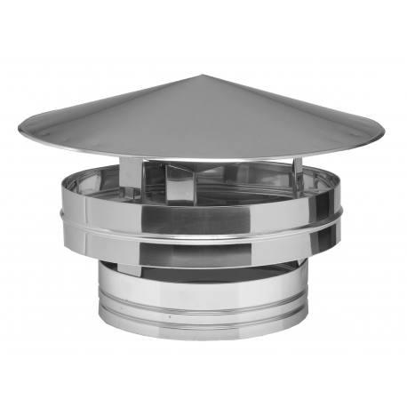 Sombrerete inoxidable antiviento tubería aislada Dinak DP Aisi 304-304
