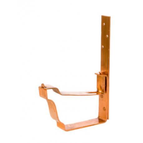 Palomilla larga para canalón de cobre diseño cornisa