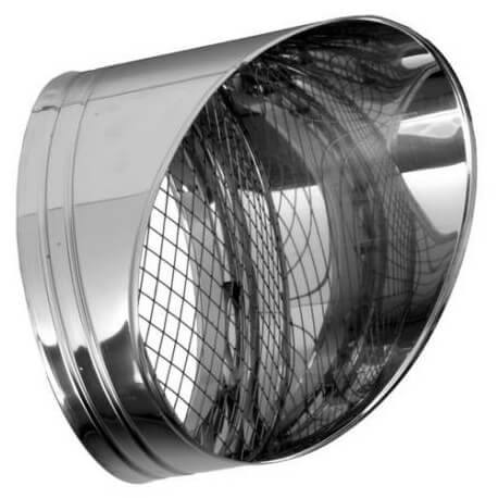 Salida chimenea direccional inoxidable horizontal tubería Dinak DP 304