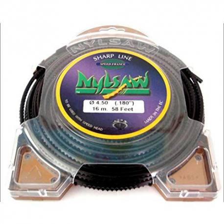 Hilo de nylon dentado para desbrozadora con cabezal multihilo