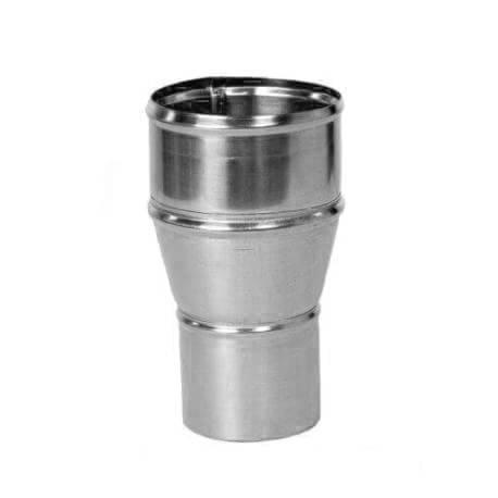 Reducción 100/80 mm para conexión de bajantes a canalones de zinct