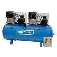 Compresor industrial Imcoinsa 0412 trifásico tandem 7.5 Hp + 7.5 Hp 500 Lt