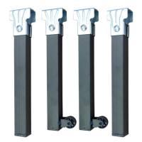 Pack de 4 patas de cama con ruedas para estructura de somier Imex-El zorro