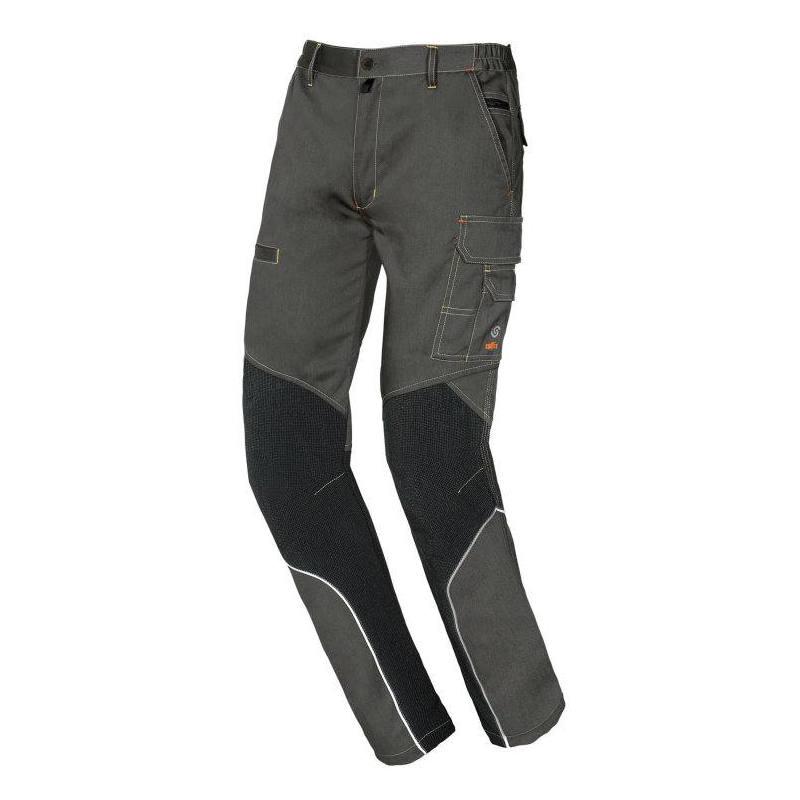 Pantalón de trabajo multibolsillos Starter Extreme gris 8830B
