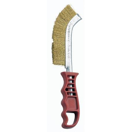 Cepillo acero latonado Bellota 50806a mango plástico