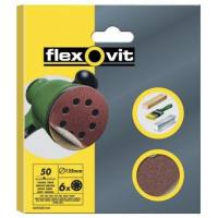 Disco lija velcro 150 mm 6 perforaciones