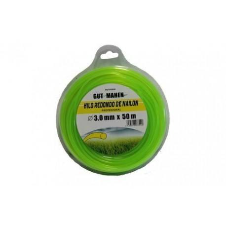 Hilo desbrozadora nylon redondo 3,0 mm