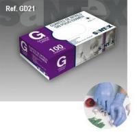 Guante nitrilo azul desechable sin polvo 100 unidades