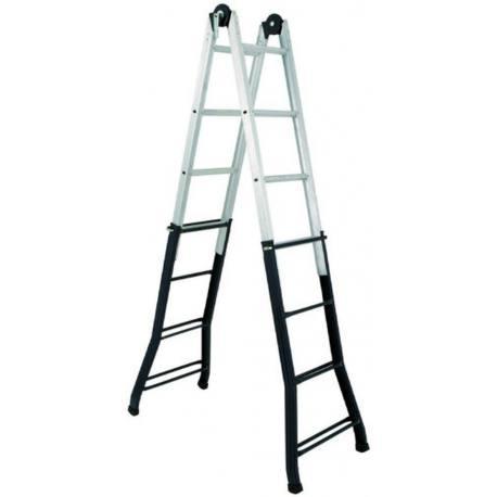 Escalera telesc pica altipesa 334 herramienta construcci n for Escalera telescopica aluminio