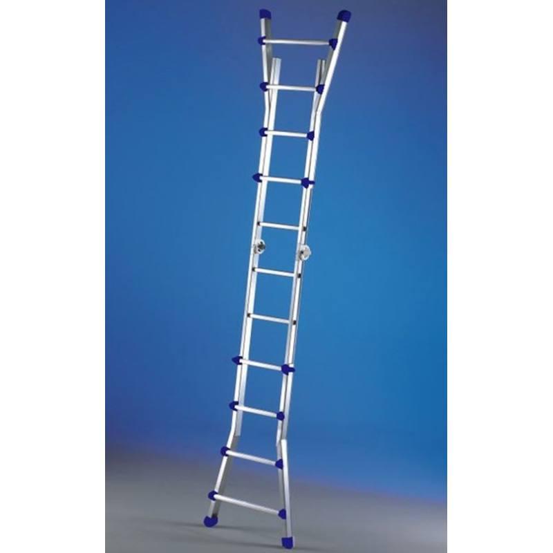 Escalera telesc pica de aluminio svelt escalisima for Escalera telescopica aluminio