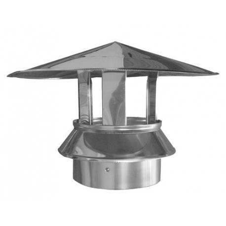 Sombrerete chimenea tubería aislada Dinak DP Aisi 304