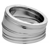 Codo estufa acero inoxidable aislado 15 grados tubería Dinak DP Aisi 304-304