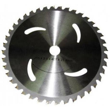 Disco de widia para desbrozadora Ø 255x25,4x1,5 mm 40 Dientes